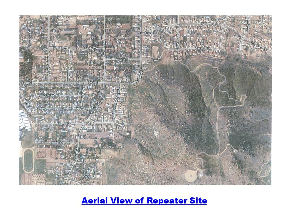 Aerial View of Repeater Site