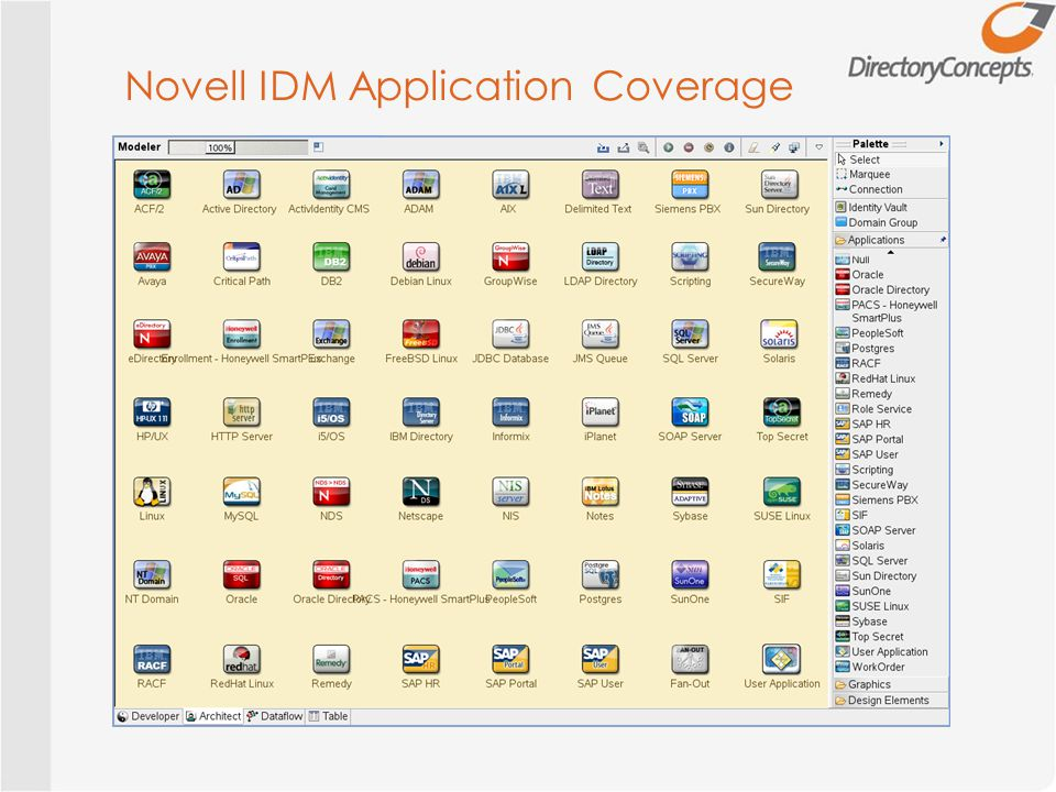 Novell IDM Application Coverage