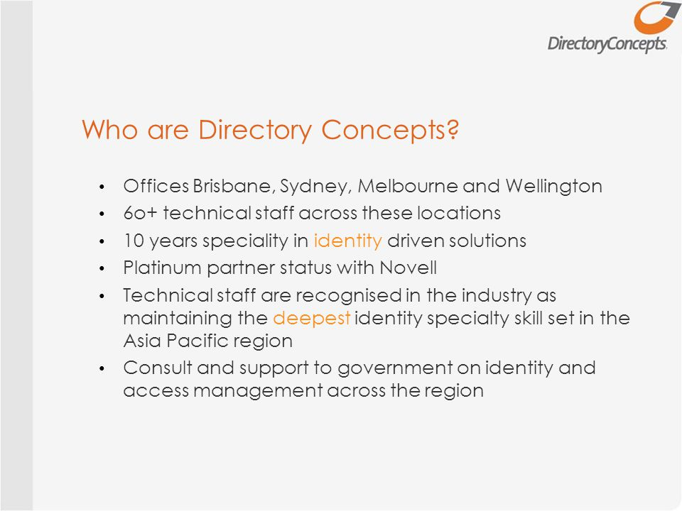 Who are Directory Concepts.