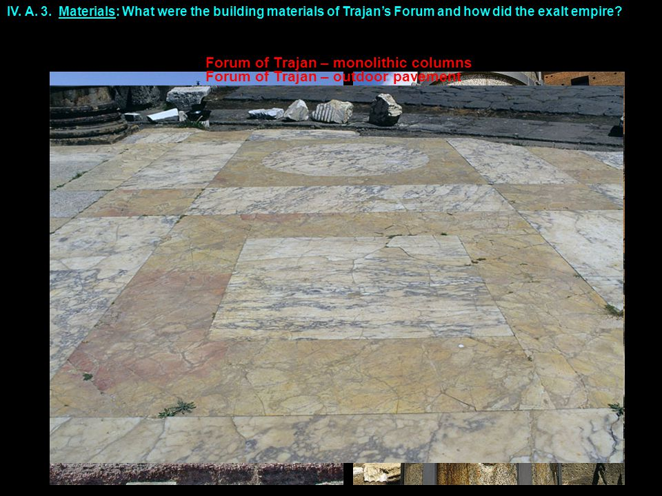 Forum of Trajan – outdoor pavement IV. A. 3.