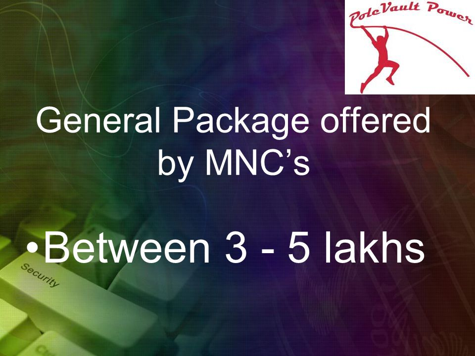 General Package offered by MNC's Between 3 - 5 lakhs