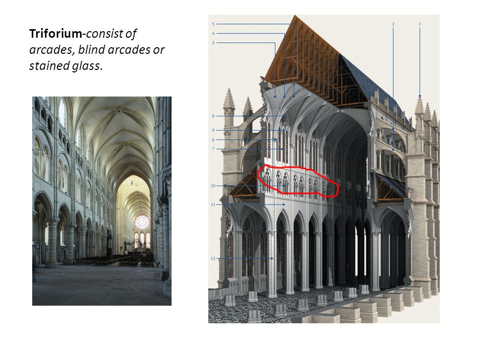 14 Triforium Consist Of Arcades Blind Or Stained Glass