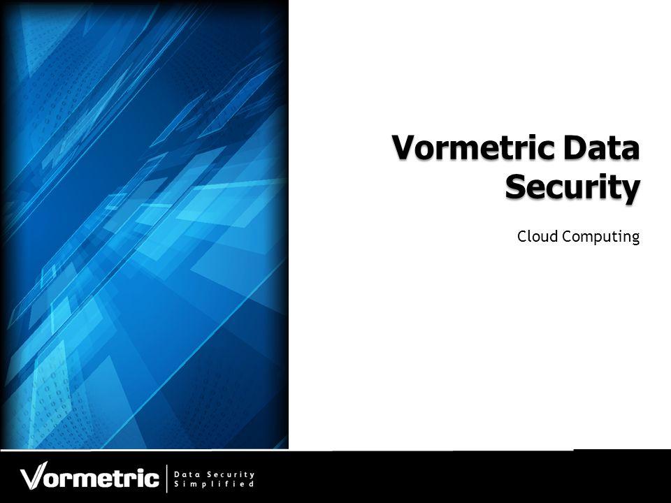 Vormetric Data Security Cloud Computing