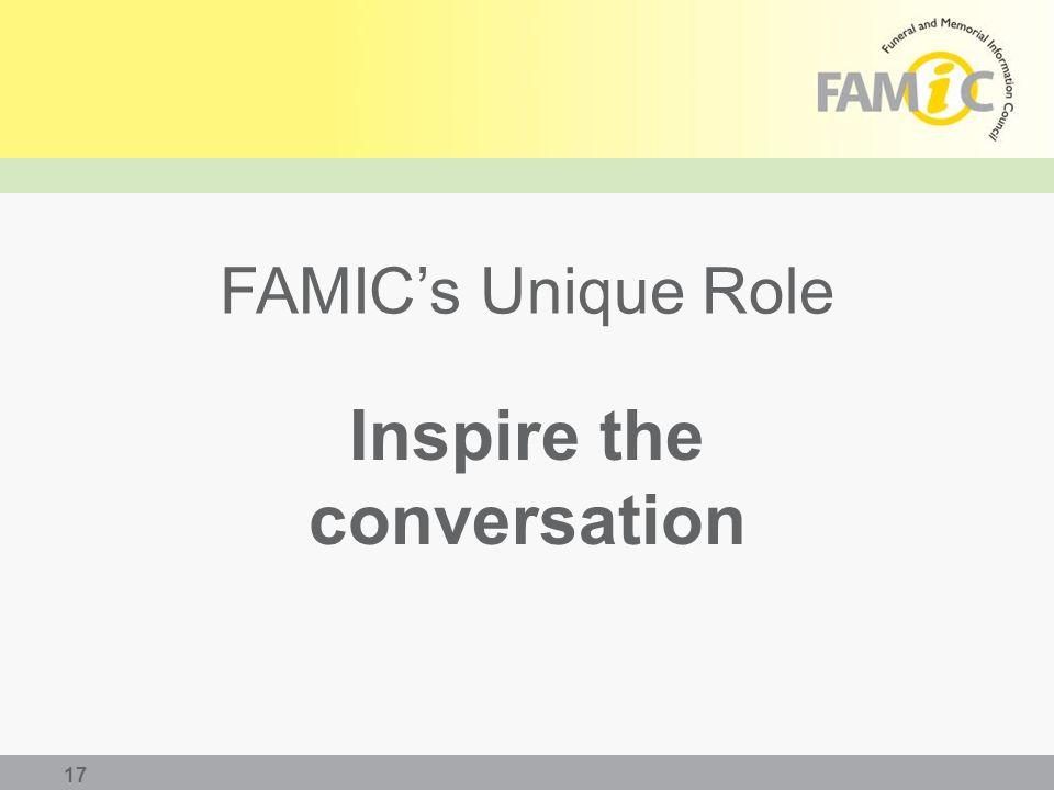 FAMIC's Unique Role Inspire the conversation 17