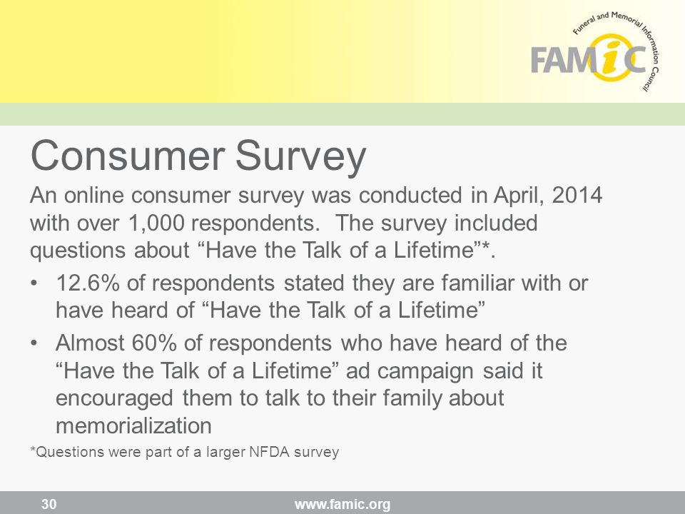 An online consumer survey was conducted in April, 2014 with over 1,000 respondents.