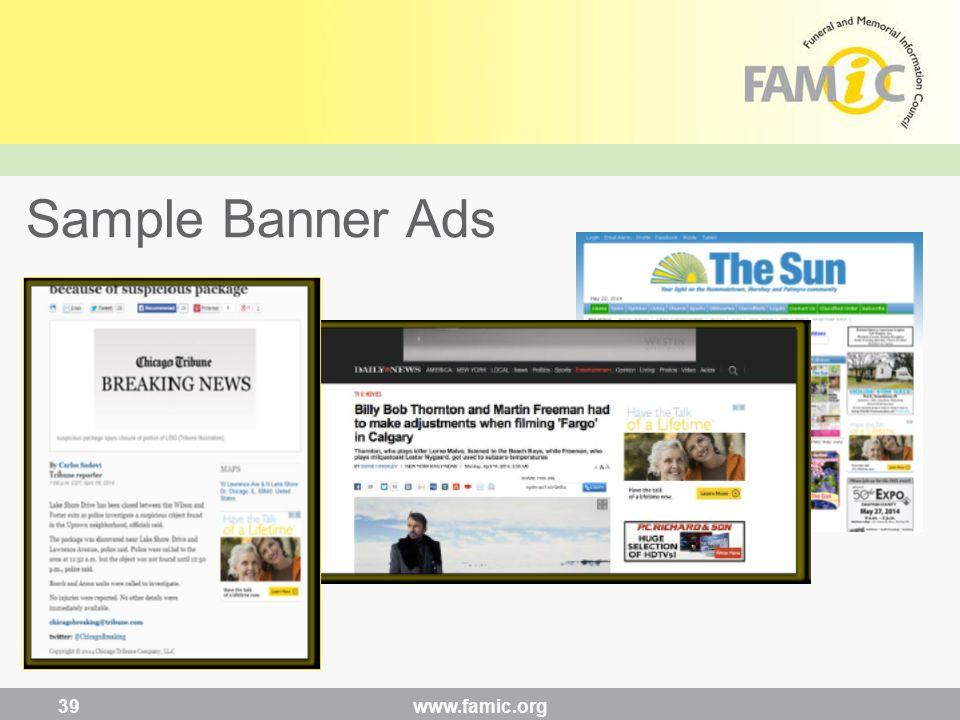 www.famic.org 39 Sample Banner Ads