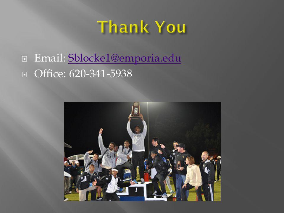  Email: Sblocke1@emporia.eduSblocke1@emporia.edu  Office: 620-341-5938