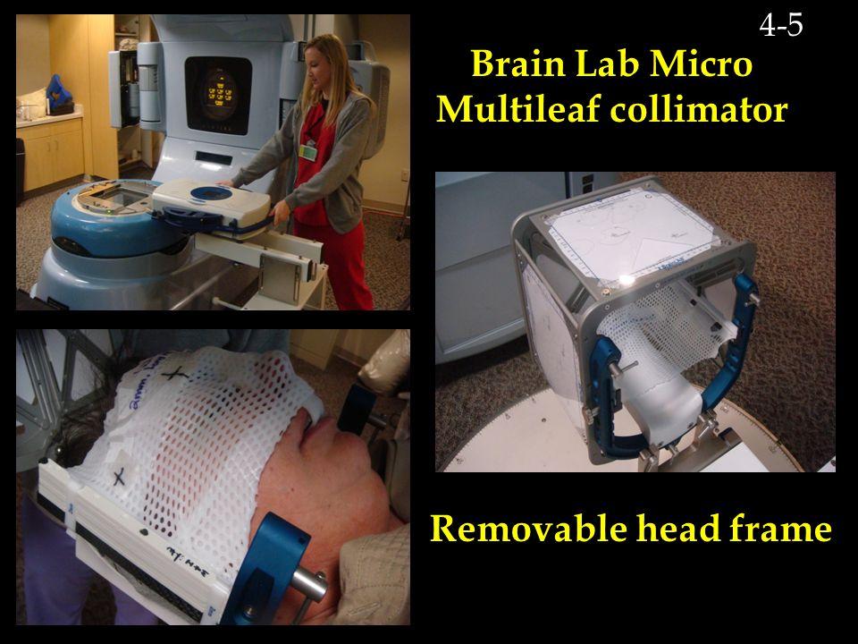 Brain Lab Micro Multileaf collimator Removable head frame 4-5