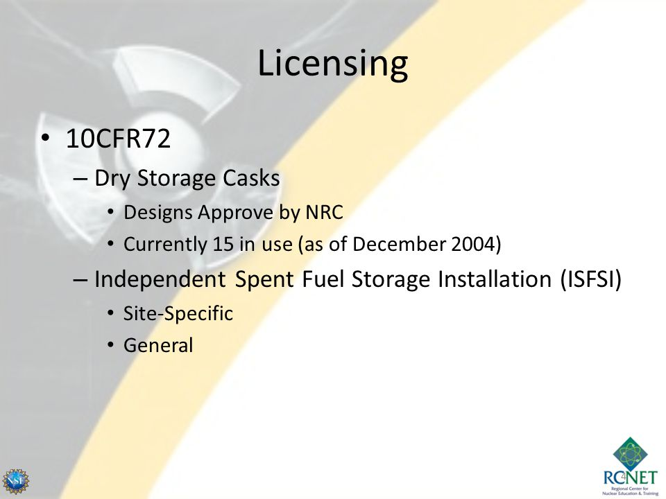 Dry Cask Storage - Loading Remove water and fill with Inert gas Bolt and Weld Lid 15