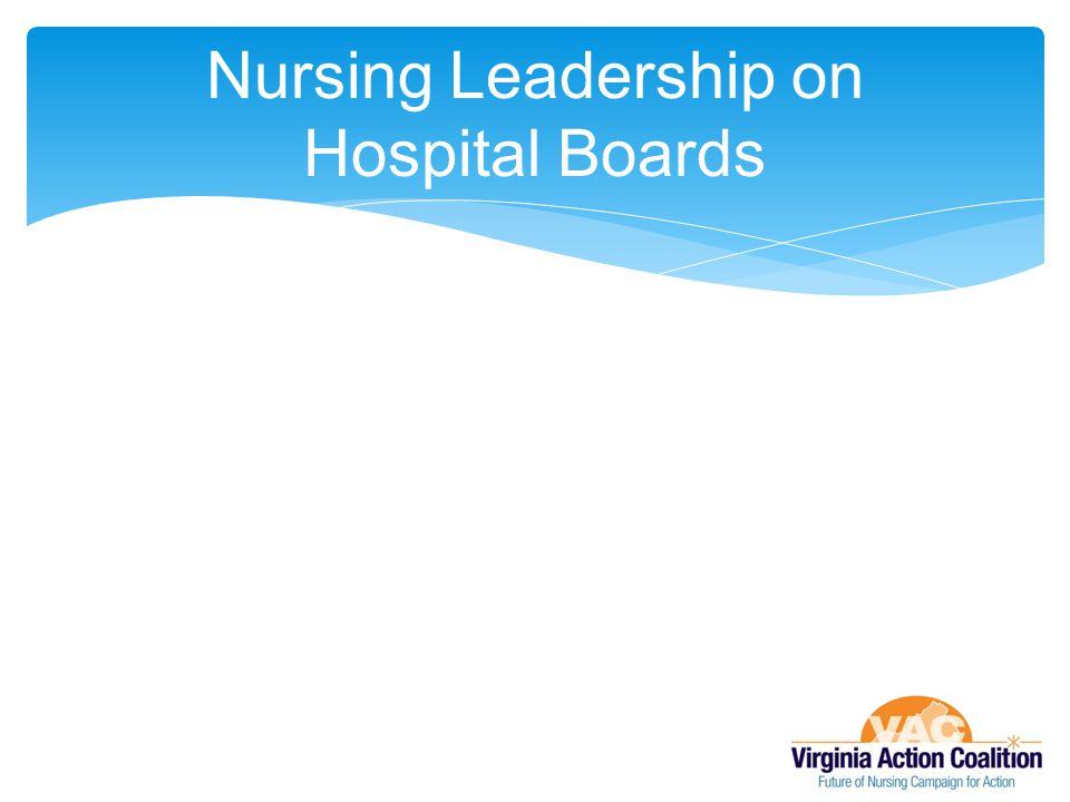 Nursing Leadership on Hospital Boards