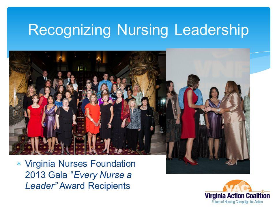  Virginia Nurses Foundation 2013 Gala Every Nurse a Leader Award Recipients