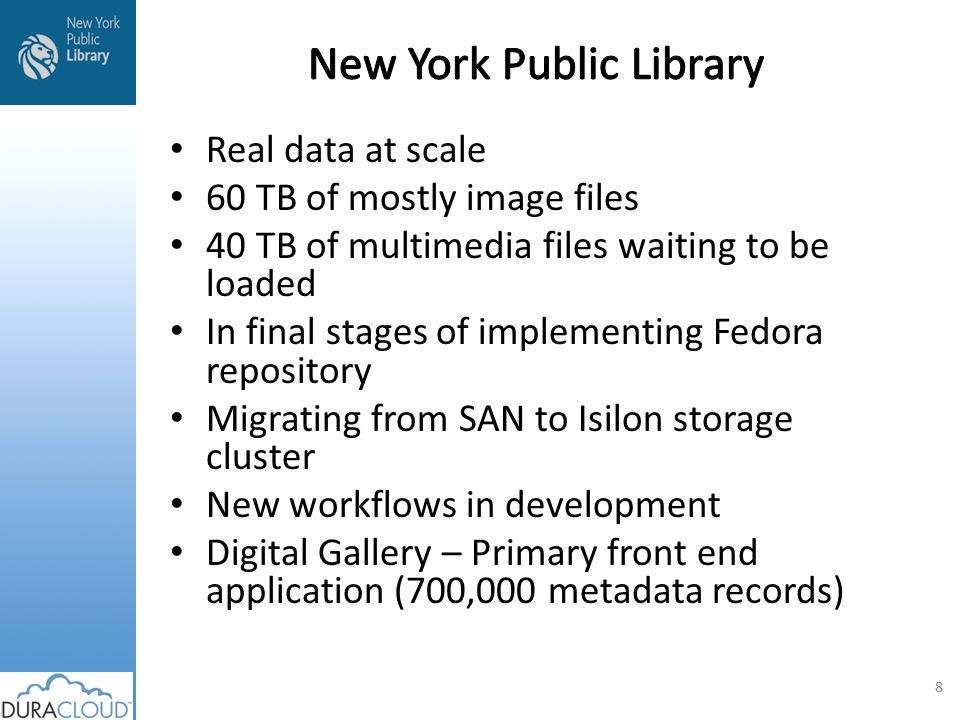Possibility of buying licensing, services that we didn't need to develop, host, support or upgrade ourselves Belonging to a larger community of libraries, museums and cultural organizations working in concert on a common problem Need to address some serious issues with the creation, support and web delivery of large zoom-able files Streamline workflow Tie delivery directly to repository workflow 9