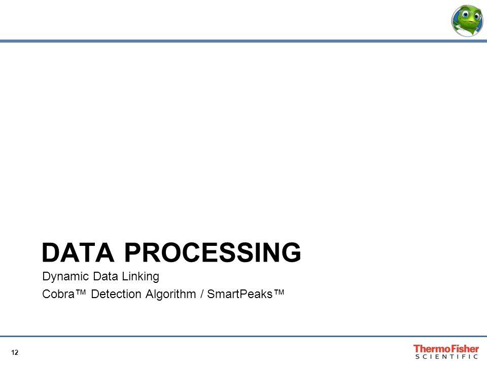 12 DATA PROCESSING Dynamic Data Linking Cobra™ Detection Algorithm / SmartPeaks™