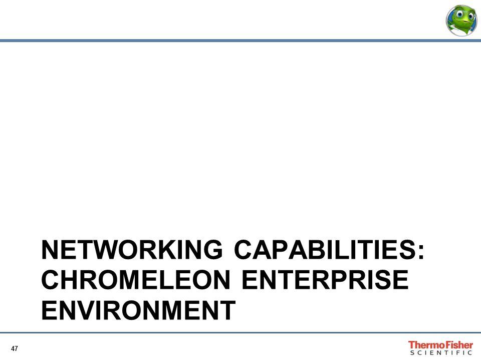 47 NETWORKING CAPABILITIES: CHROMELEON ENTERPRISE ENVIRONMENT