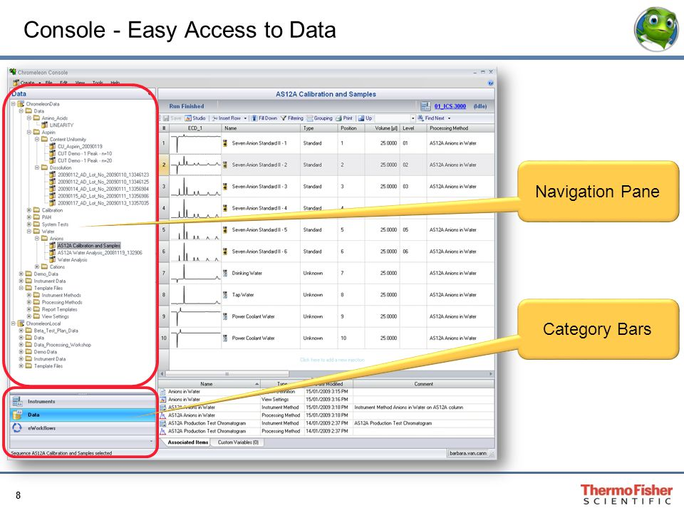 8 Console - Easy Access to Data Navigation Pane Category Bars