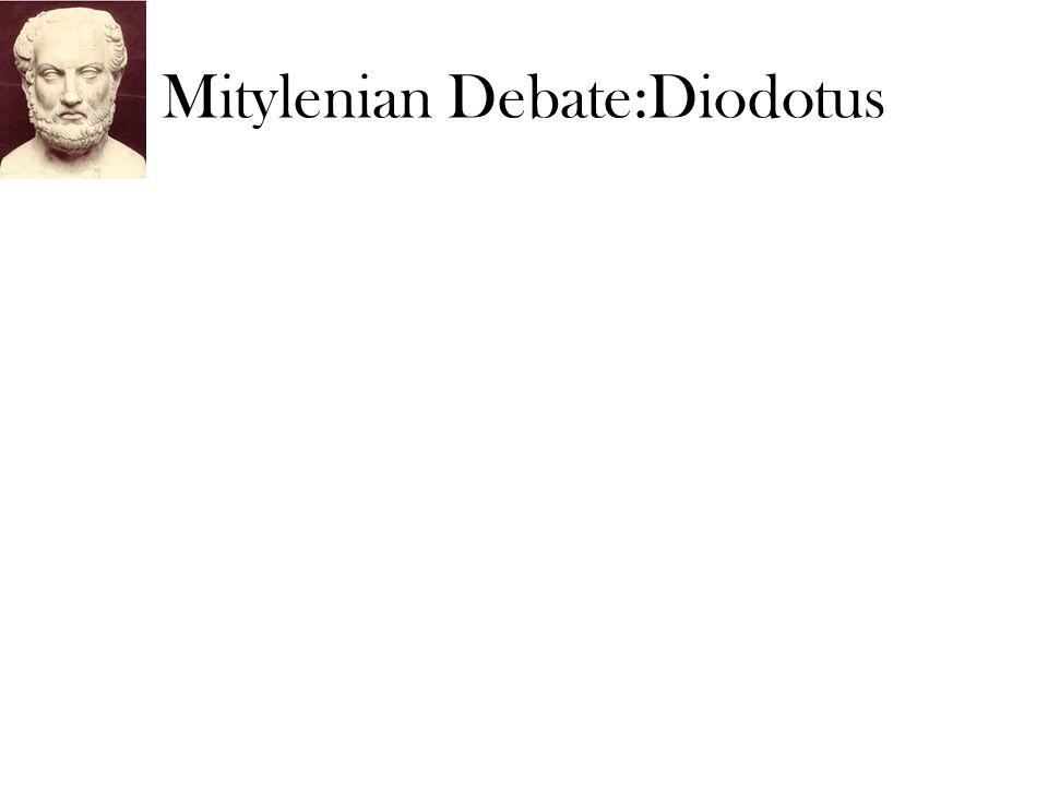 Mitylenian Debate:Diodotus