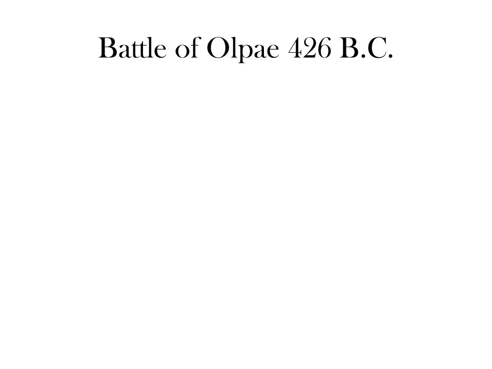 Battle of Olpae 426 B.C.