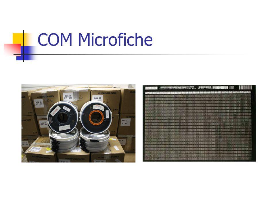 COM Microfiche