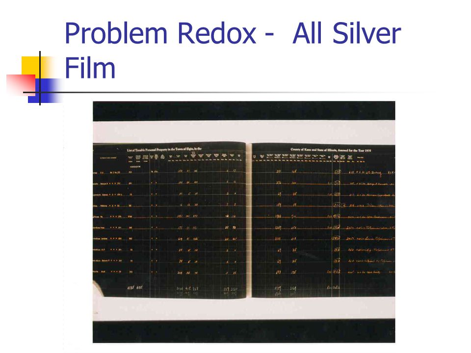Problem Redox - All Silver Film