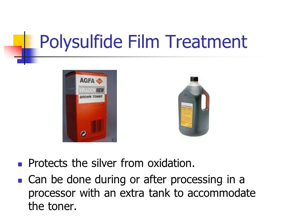 Polysulfide Film Treatment Protects the silver from oxidation.