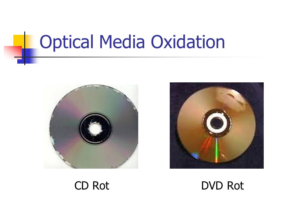 Optical Media Oxidation CD Rot DVD Rot