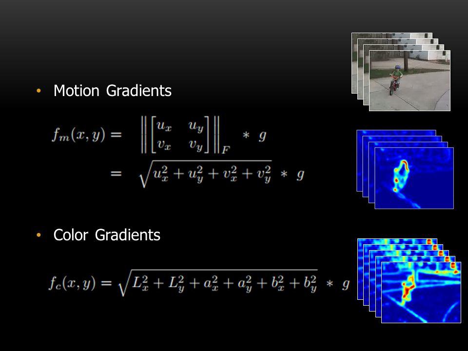 Motion Gradients Color Gradients