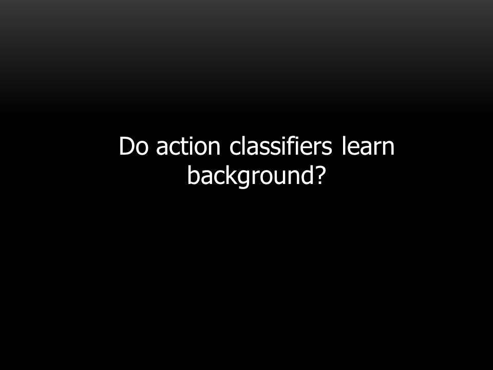 Do action classifiers learn background?