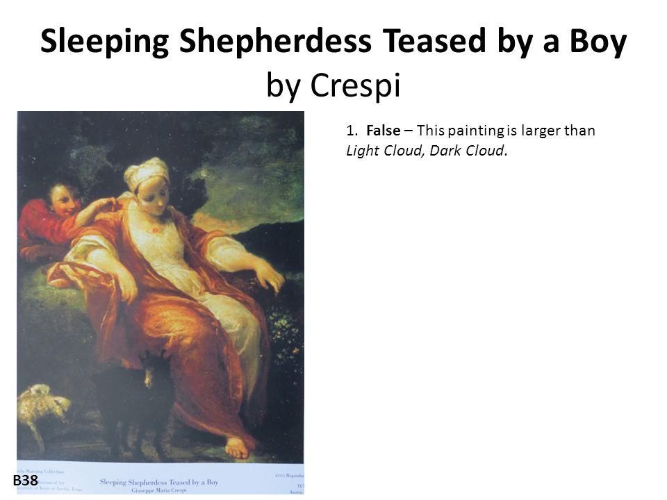 Sleeping Shepherdess Teased by a Boy by Crespi 1.