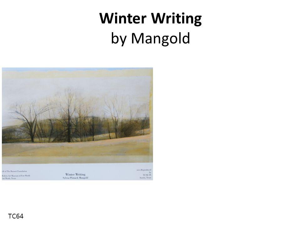 Winter Writing by Mangold TC64