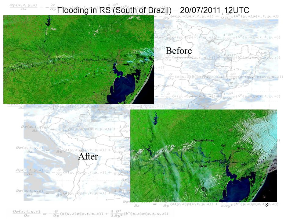 8 Before After Flooding in RS (South of Brazil) – 20/07/2011-12UTC