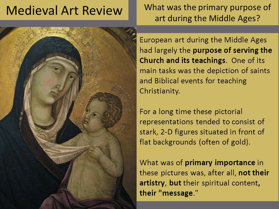 Medieval Art Review How is this painting characteristically medieval.