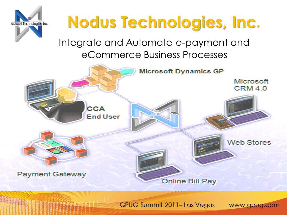 GPUG Summit 2011– Las Vegas www.gpug.com Nodus Technologies, Inc Nodus Technologies, Inc.
