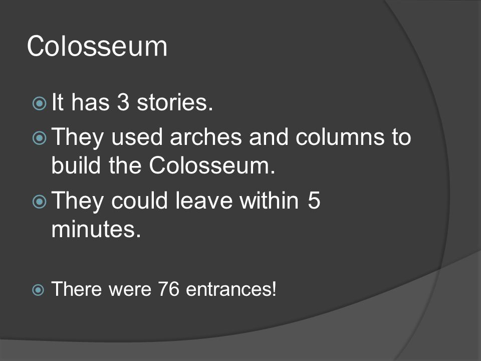 Colosseum  How many stories did the Colosseum have.
