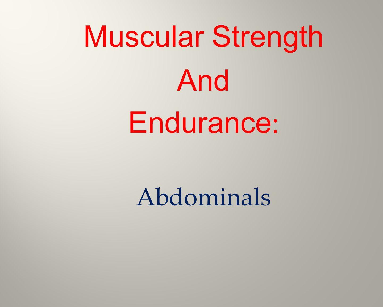 Cardiovascular(Aerobic)Endurance