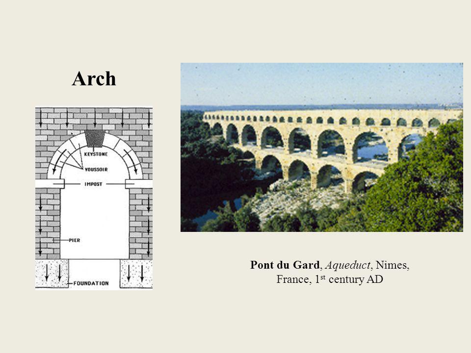 Arch Pont du Gard, Aqueduct, Nimes, France, 1 st century AD