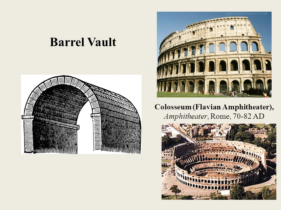 Colosseum (Flavian Amphitheater), Amphitheater, Rome, 70-82 AD Barrel Vault