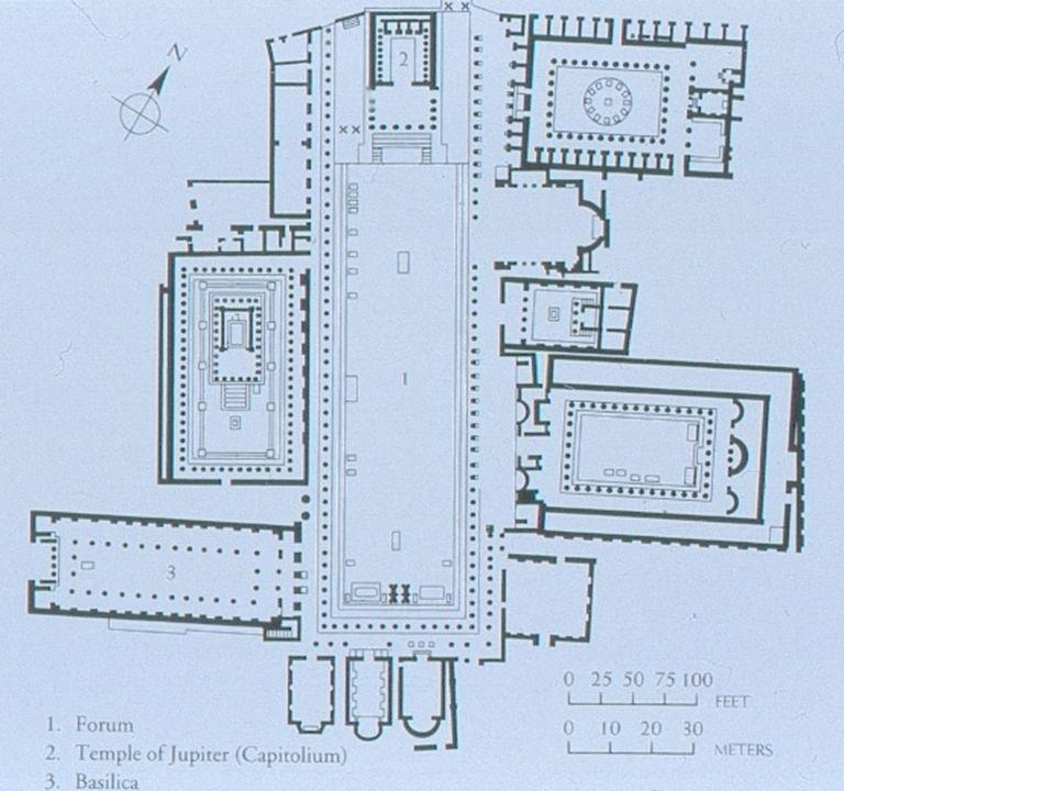 Forum of Pompeii 79 CE 88 BCE Pompeii becomes a Roman city