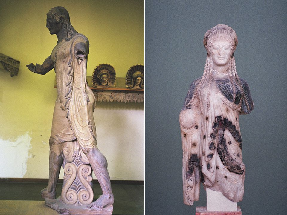 Apollo, From the Portonaccio Temple, Veii, 510-500 BCE Terracotta Acroteria