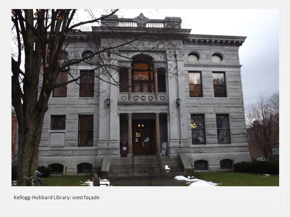 Kellogg-Hubbard Library: west façade
