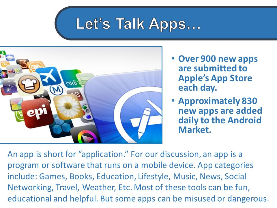Over 900 new apps are submitted to Apple's App Store each day.