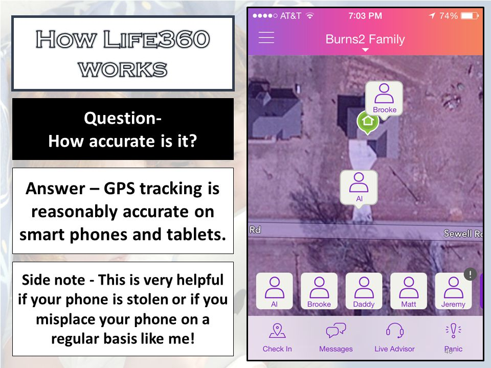 Answer – GPS tracking is reasonably accurate on smart phones and tablets.