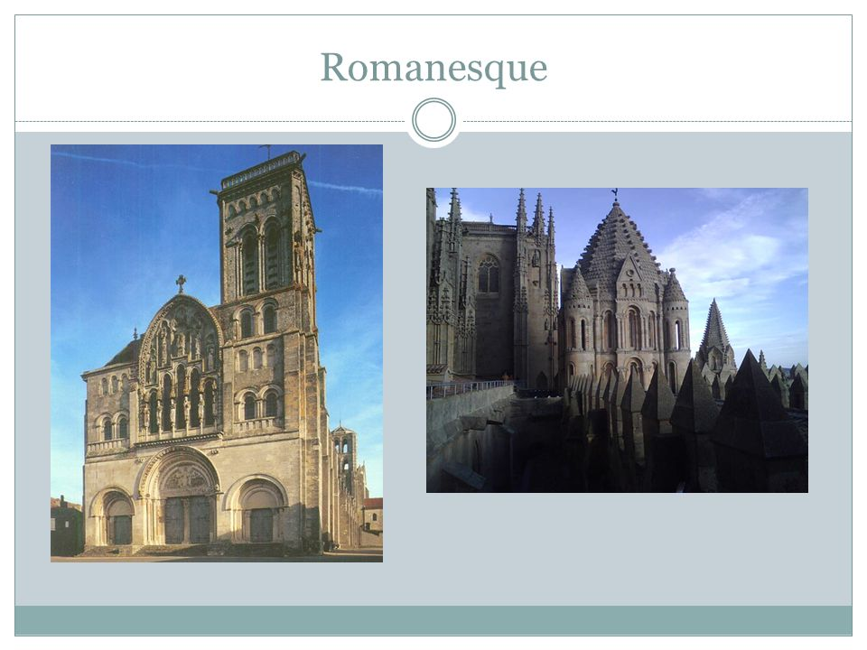Later Medieval Period (cont.) The Gothic Style  Developed in the first half of the twelfth century, remained popular into th esiteenth century  Used for some secular buildings, but largely applied to the construction of churches Pointed Arches Ribbed Vaults Flying buttresses Directs attention heavenward