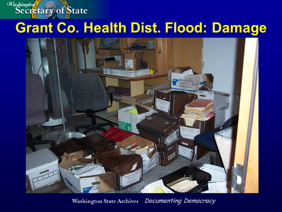 Washington State Archives Documenting Democracy Grant Co. Health Dist. Flood: Damage