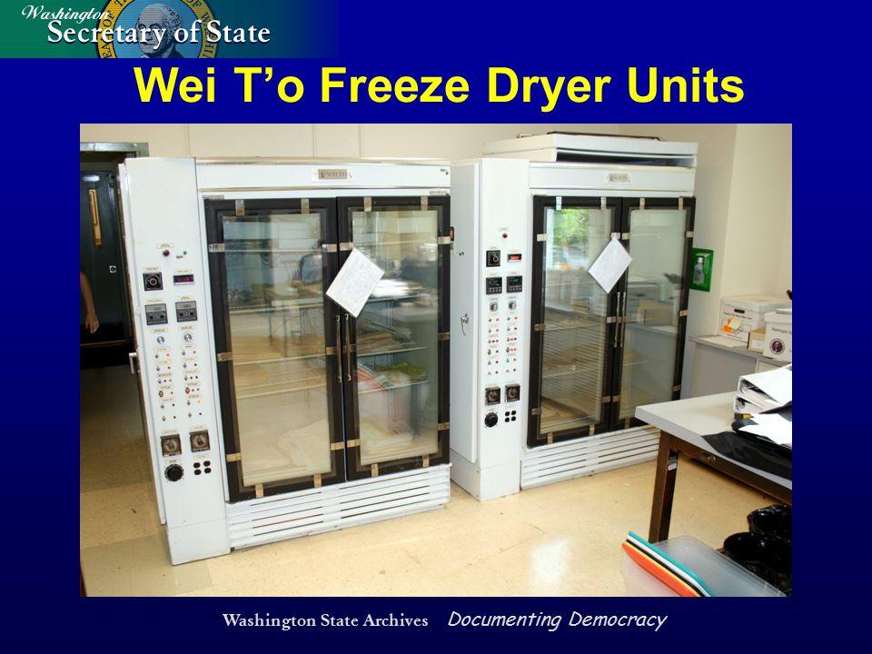 Washington State Archives Documenting Democracy Wei T'o Freeze Dryer Units