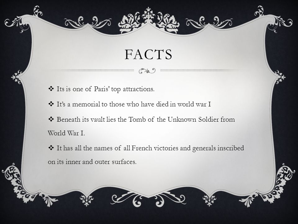 FACTS  Its is one of Paris top attractions.