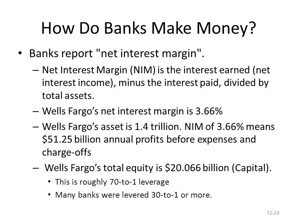 How Do Banks Make Money. Banks report net interest margin .