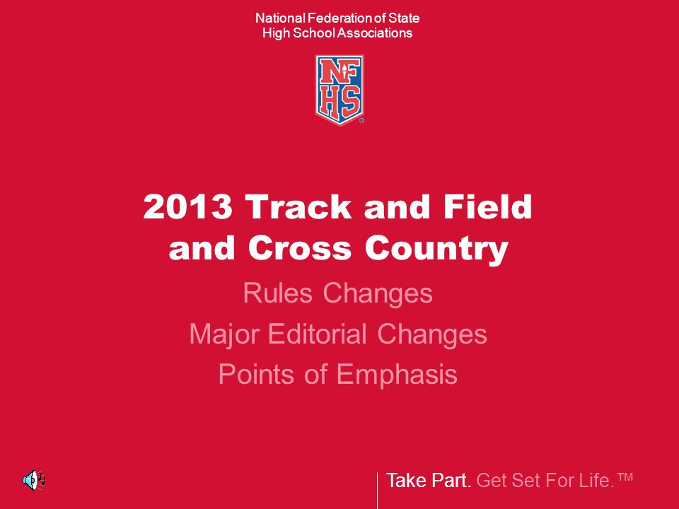 2013 Track and Field Rules/Case Book Corrections  Page 4, Editorial Changes, 3-19-2, 4-4-3 to 4-3-3, add 7-2-8, 7-4-10 to 7-2-8, Example, 7-4-16 to 7-4- 14, 7-6-9  Page 25, 4-3-1,2 PENALTY, …of the competitor's violation and warning or disqualification  Page 56, 7-4-14d, (See 7-2-510) Case Book  Page 69, 7.2.8 SITUATION, RULING: …followed by Nos.