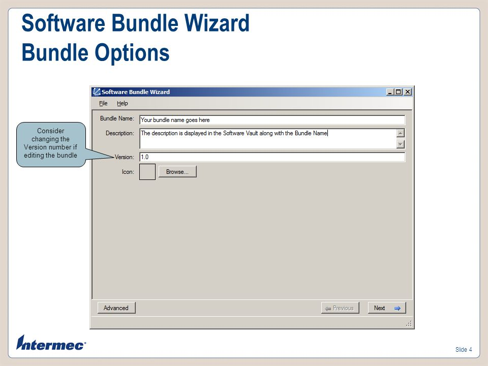 Slide 3 Software Bundle Wizard