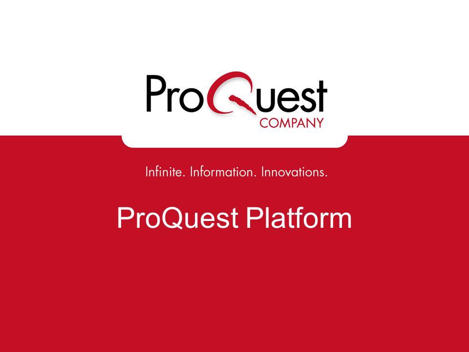 ProQuest Platform