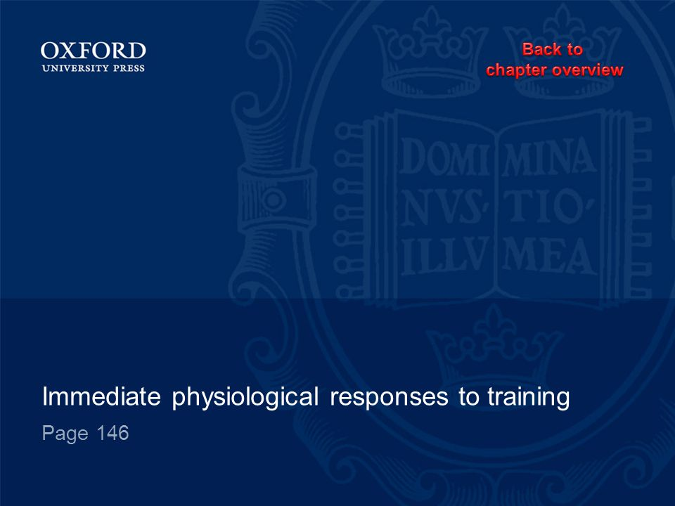 Immediate physiological responses to training Page 146